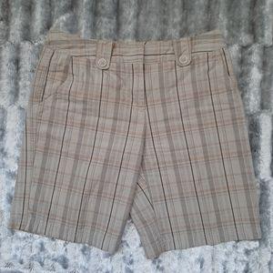 3/$18 W30 Shorts Metro7 Tan Orange Plaid